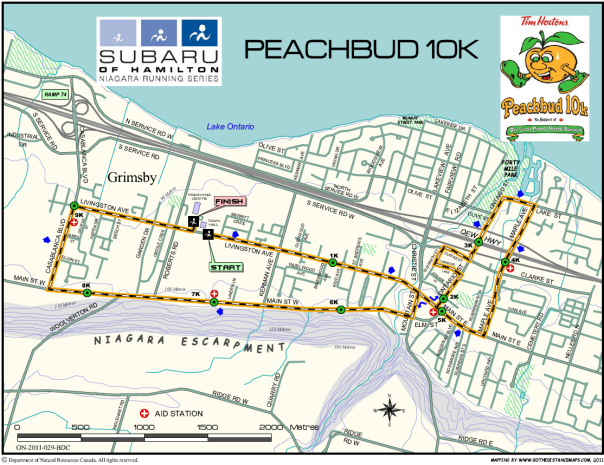 10km Peachbud map